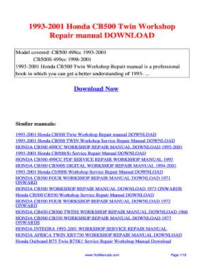 honda cb500 service manual pdf