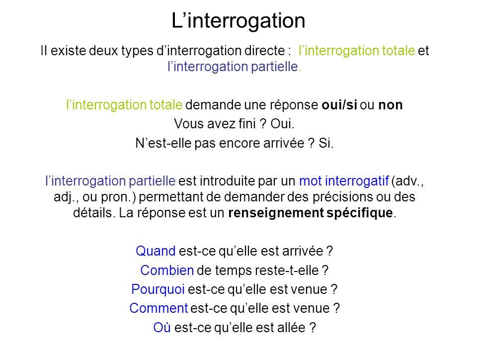 Exercices Sur L Interrogation Totale Et Partielle Pdf