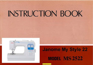 janome my style 22 instruction manual