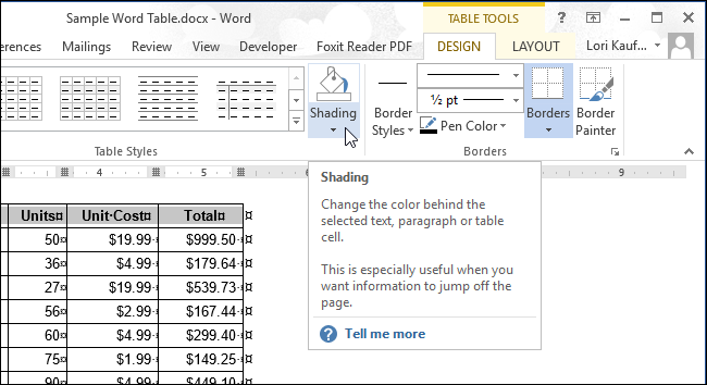 Word how to put more rows in a table column