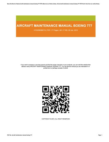 boeing 787 aircraft maintenance manual pdf