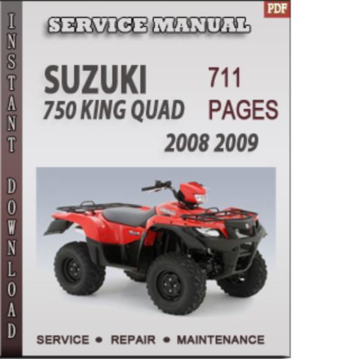 Suzuki King Quad 300 Manual Pdf