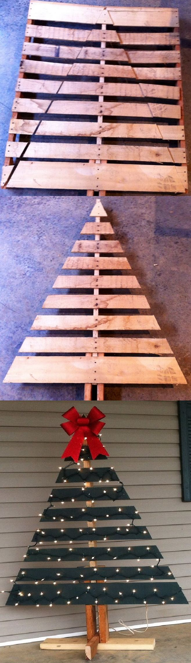 diy pallet christmas tree instructions