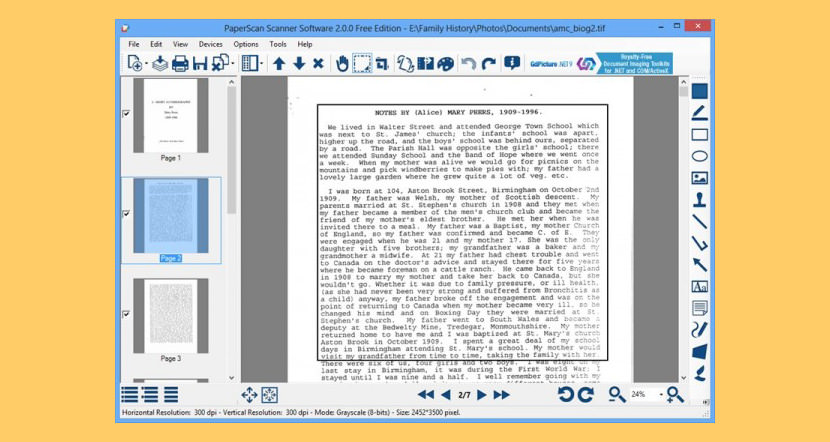 Free document scanning software for windows 7 pdf