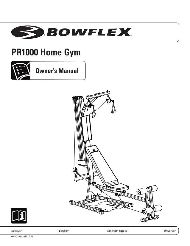 Schwinn force home gym by bowflex manual