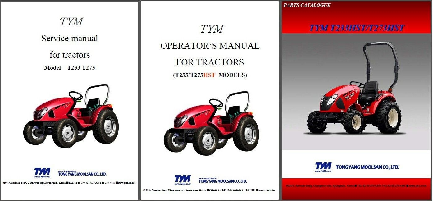tym t353 hst shop manual