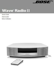 Bose wave radio ii manual