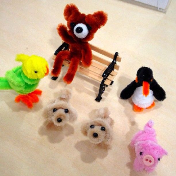 instructions for pipe cleaner animals