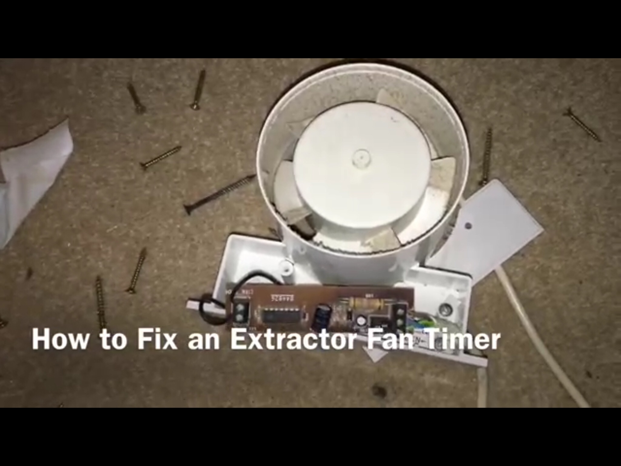 Manrose extractor fan wiring instructions