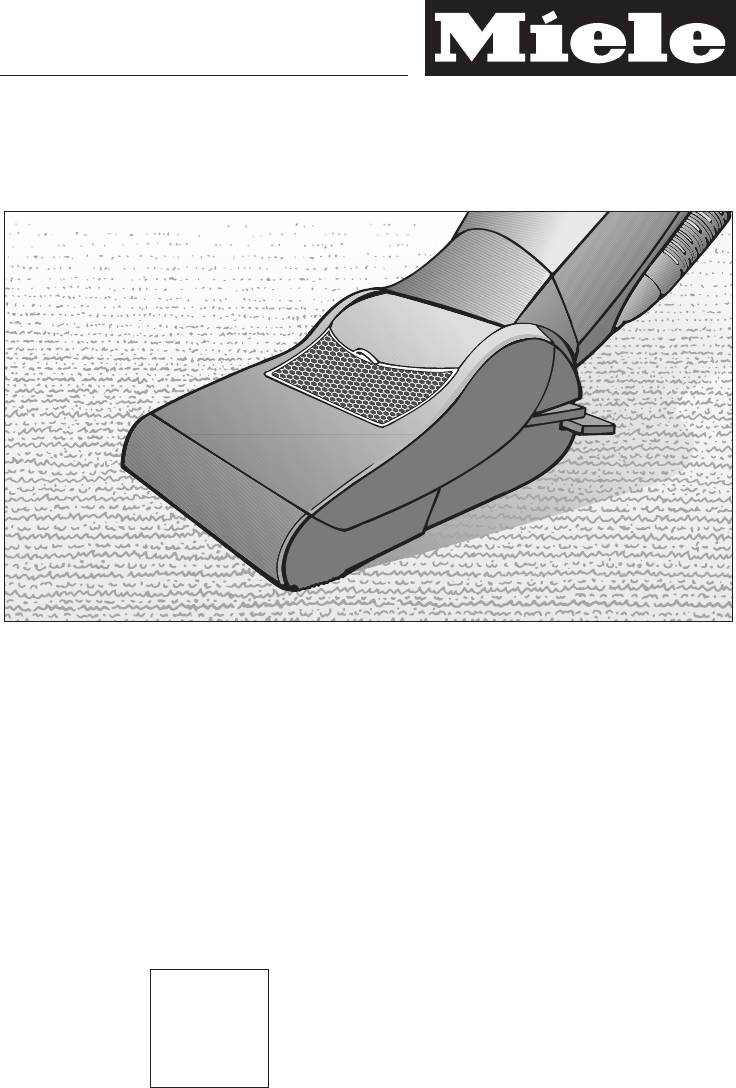 Miele vacuum cleaner service manual