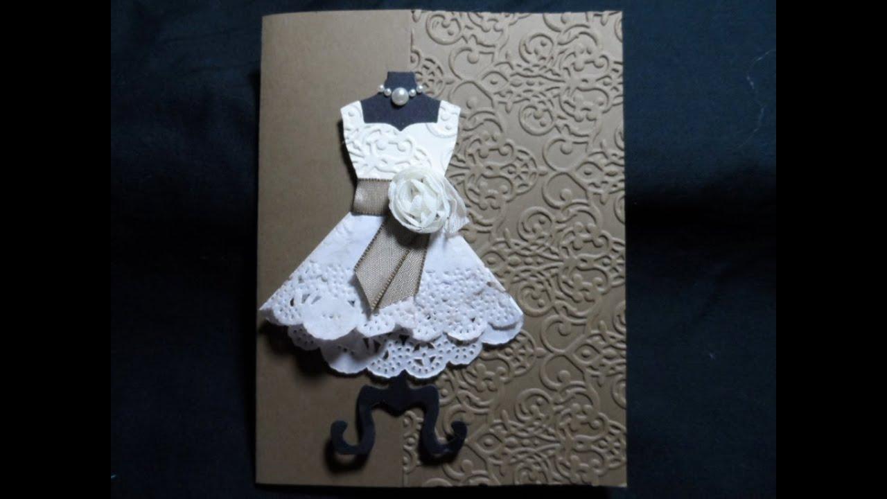 Show how to make craft paper doily dresses