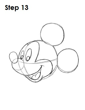 mickey mouse step by step drawing instructions