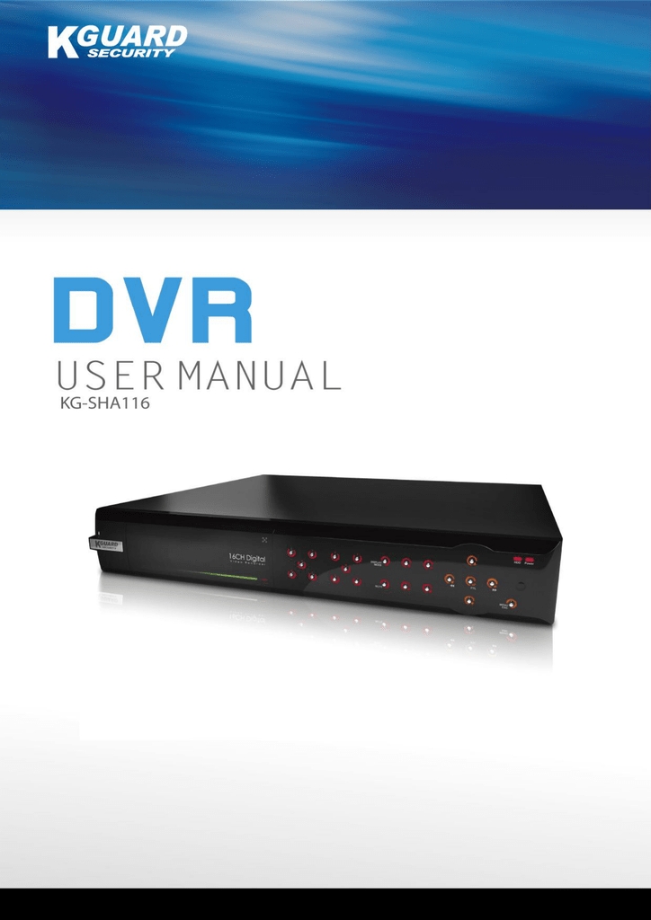 Kguard dvr ot-801 user manual