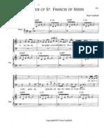 Mass of st francis paul taylor pdf