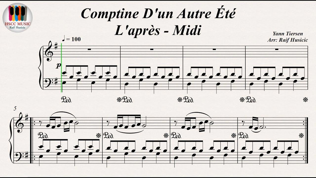 Yann tiersen amelie piano pdf