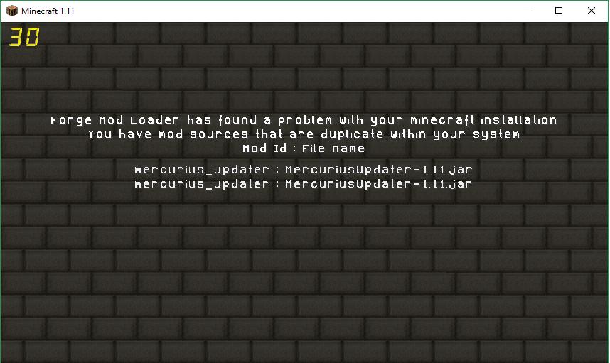 Minecraft how to delete duplicate mercurius mod