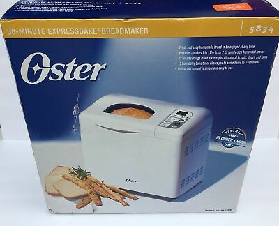 Oster bread machine manual 5834