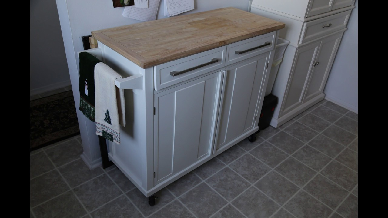 canvas mayfield kitchen cart instructions