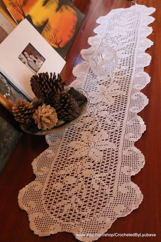 crochet table runner instructions