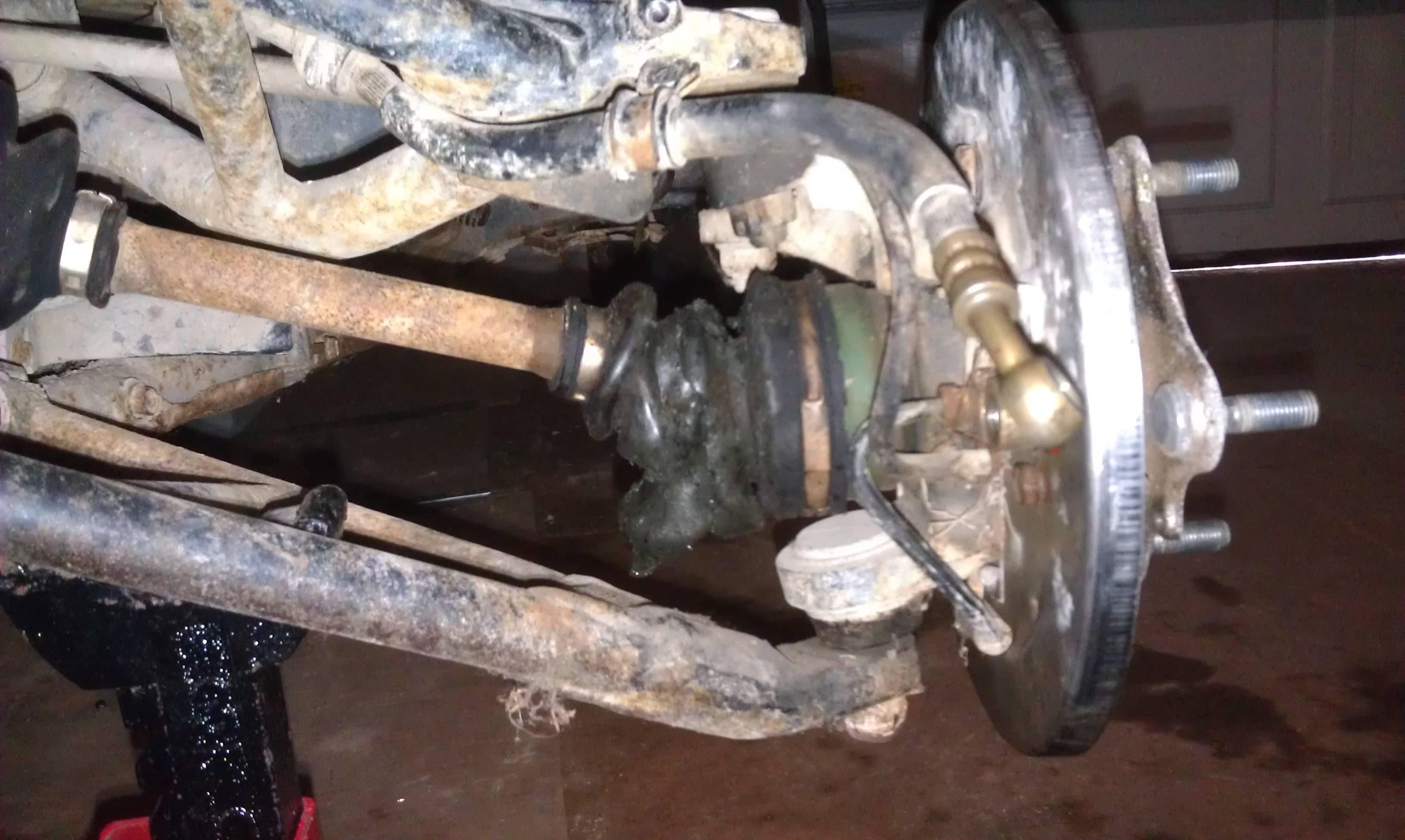 Rabbit 2007 how to change front axle