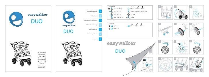 easywalker duo instruction manual