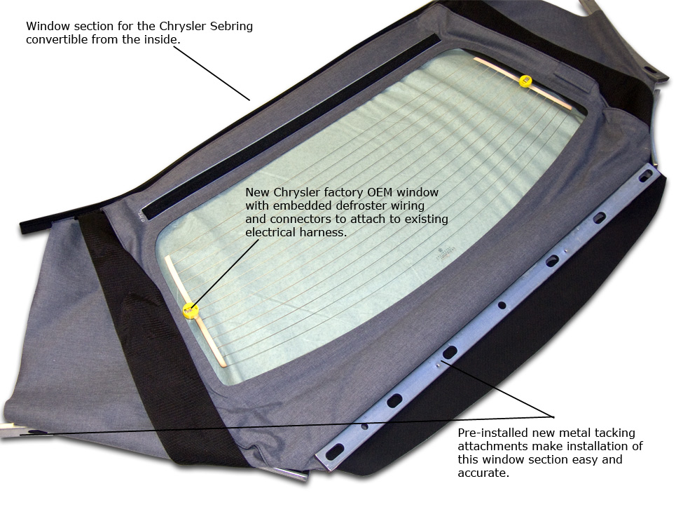 Sebring convertible top replacement instructions