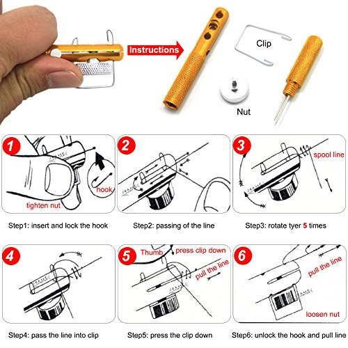 fishing knot tying tool instructions