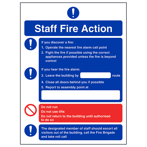 fire instruction notice template