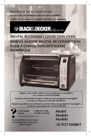 black and decker rotisserie oven manual