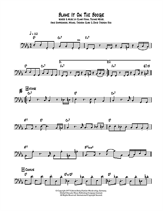 Blame it on the boogie drum pdf