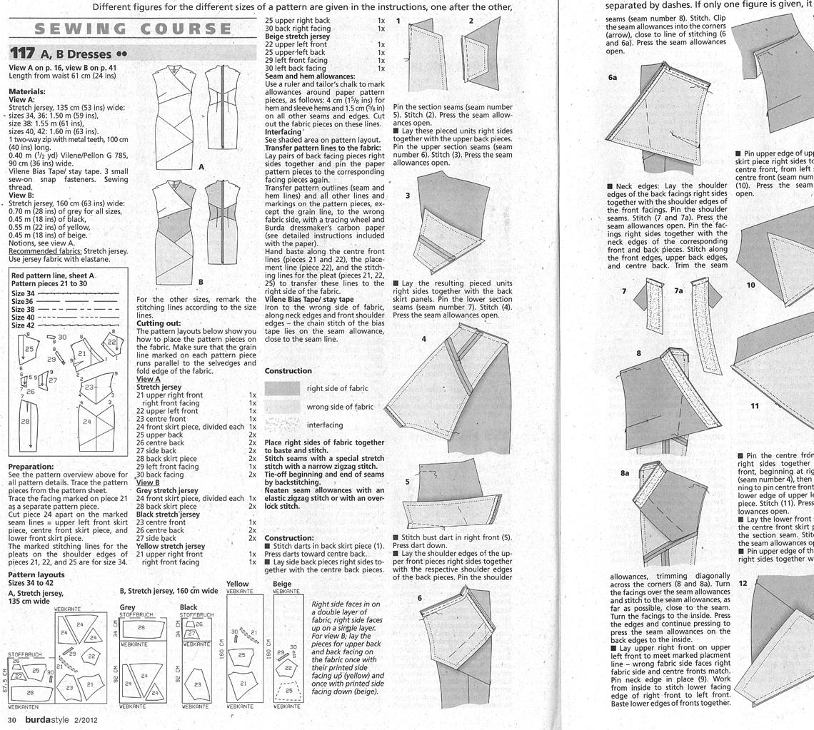 Burda pattern 9649 instructions pdf