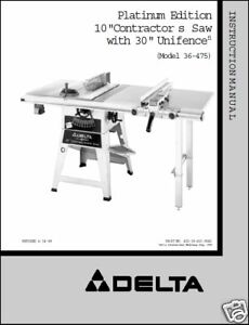 delta 36-069 table saw manual