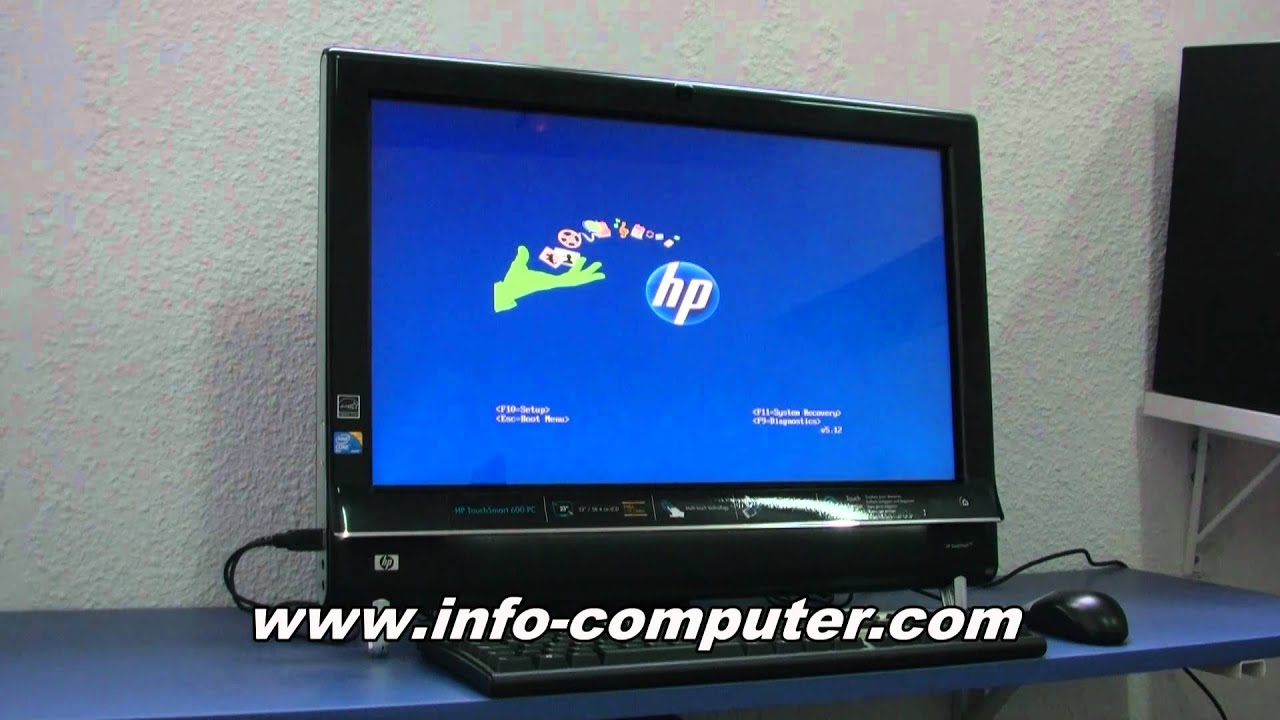 hp touchsmart 600 pc manual