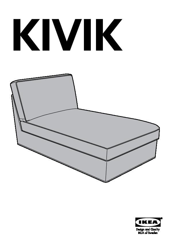 ikea kivik chaise instructions