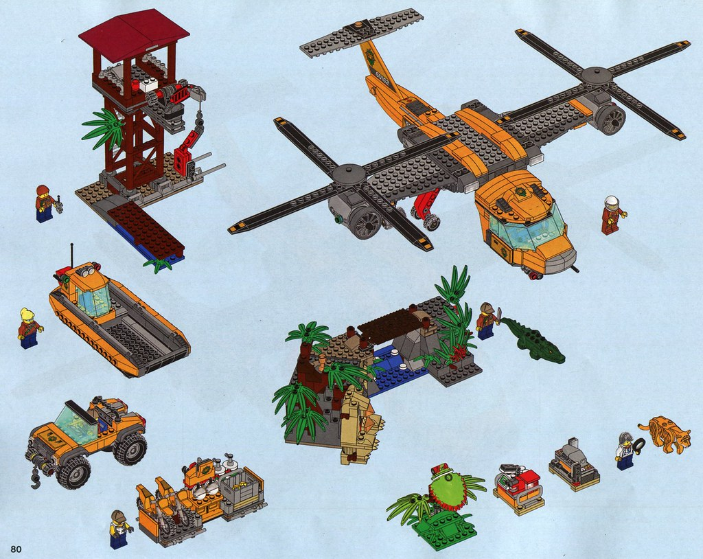 lego jungle helicopter instructions