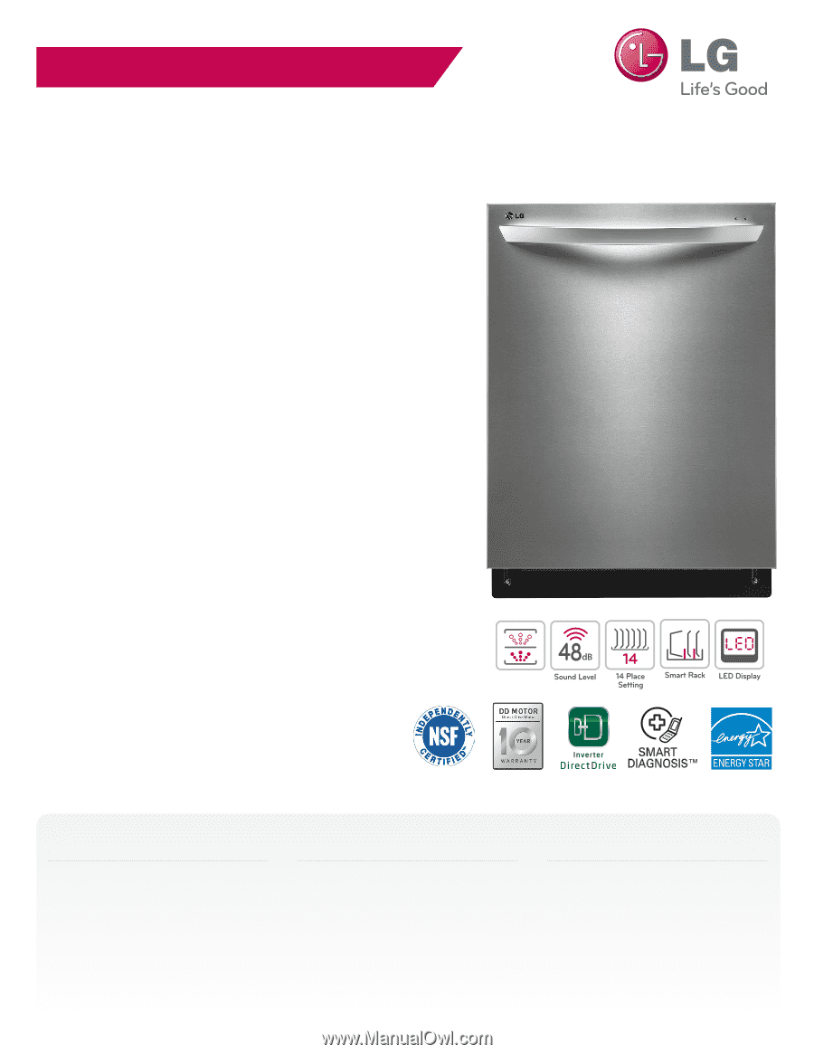 Lg inverter direct drive dishwasher manual pdf