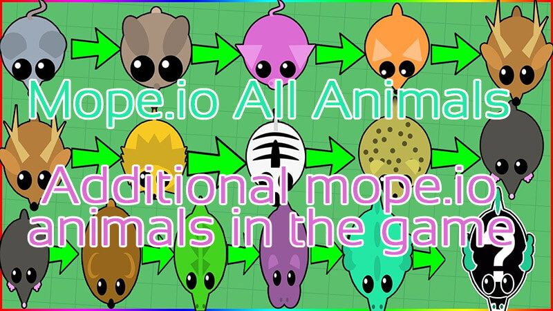 Mope.io how to become a cold animal