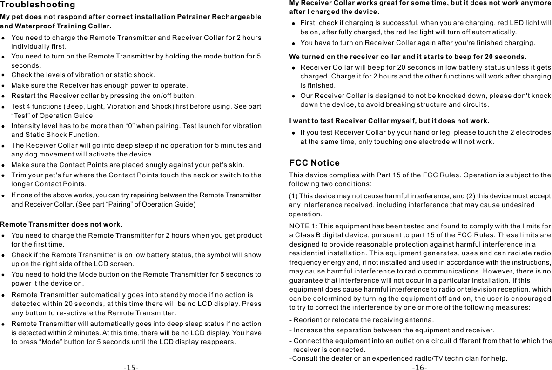 petainer training collar instructions