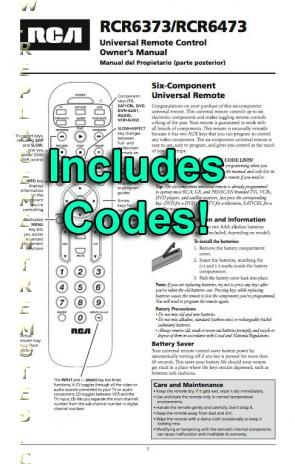 rca universal guide plus gemstar remote manual